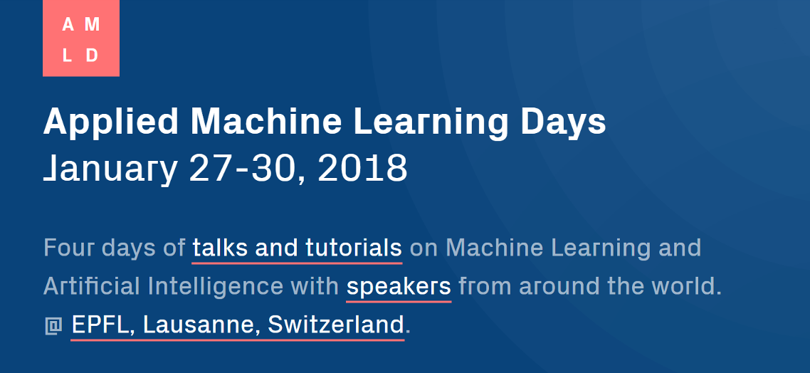Applied Machine Learning Days 2018 Image