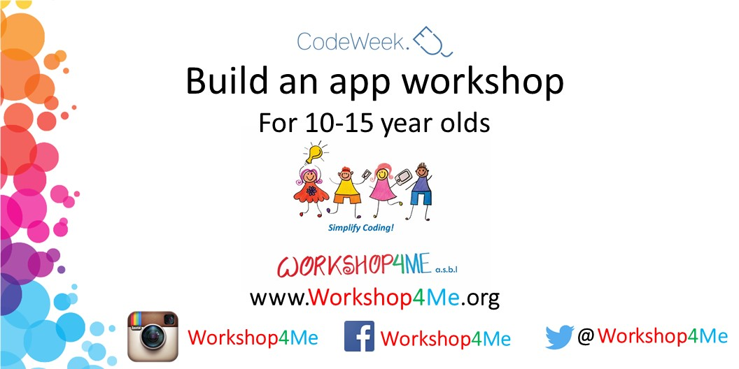 Build an App Workshop for 10-15 year olds Image