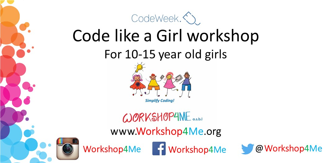 Code like a Girl Workshop for 10 - 15 year old girls Image