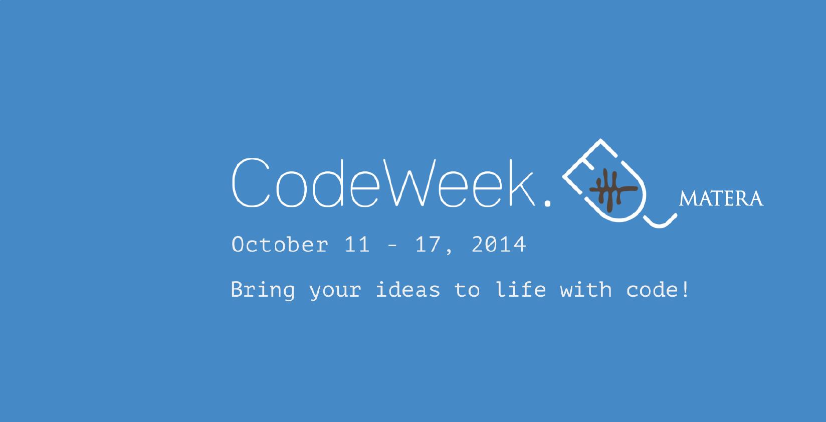 Codeweek Matera Cover Image