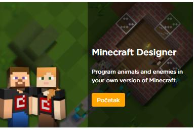 Programirajmo uz Minecraft Designer i Minecraft Adventurer Image